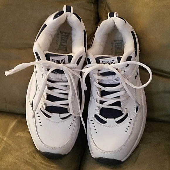 Everlast Shoes White With Blue Sneakers Size 9 Wide Poshmark